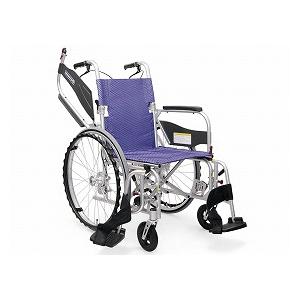 カワムラサイクル 自走型車いす ふわりす+(プラス)KFP22-40SB【車椅子 車いす 自走用 軽量 折りたたみ アルミ】