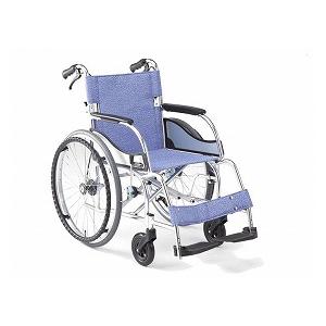 松永製作所 超軽量エアリアル自走型車いす(ブレーキ付)MW-SL11B【車椅子 車いす 自走用 軽量 折りたたみ アルミ】