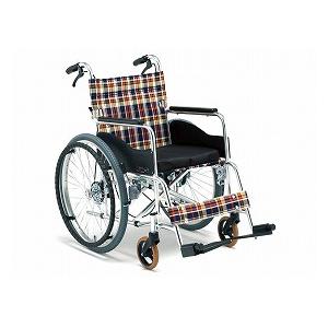松永製作所 自走車いす 立ち止まり君 AR-201BT【車椅子 車いす 自走用 軽量 折りたたみ アルミ】