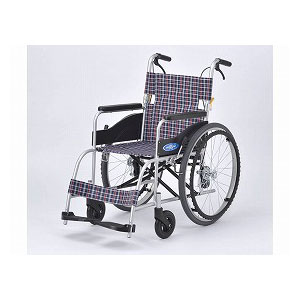 日進医療器 NEO-1(自走型車いす)【車椅子 車いす 自走用 軽量 折りたたみ アルミ】