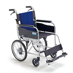 ミキBAL-2 標準型 介助型車いす ブルー【移動 外出 安全 介助式 軽量 標準 使いやすい シンプル】