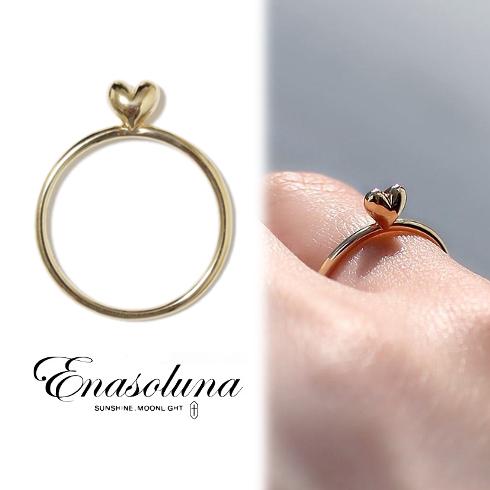 期間限定8%OFF! Enasoluna エナソルーナ Mellow heart ring(K10) 【11961541】リング K10 10金 ハート 指輪 レディース 母の日 ギフト プレゼント ラッピング クリスマス