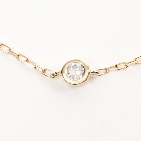 あす楽  ポイント10倍! Enasoluna エナソルーナ Ena dia bracelet BS-921 K10 10金、0.04 ダイアモンド ダイヤモンド ブレスレット 一粒 1粒 イエローゴールド ゴールド クロス ブレスレット・アンクレット クリスマス