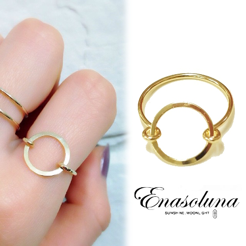 期間限定8%OFF! Enasoluna エナソルーナ Oh ring RG-1107 リングレディース 母の日 ギフト プレゼント ラッピング クリスマス ホワイトデー
