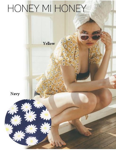 予約商品 期間限定8%OFF! Honey mi Honey  ハニーミーハニー daisy cache-coeur blouse 19春夏.予約 19S-VG-25 シャツ・ブラウス