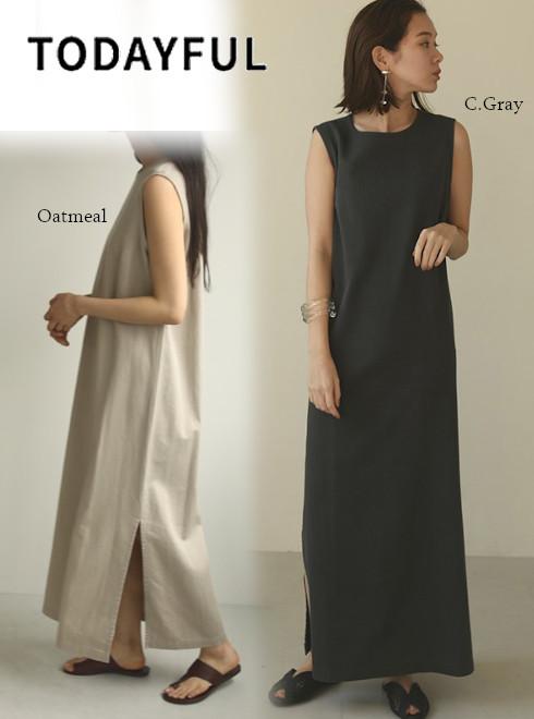 ポイント5倍! TODAYFUL トゥデイフル Dobbystripe Slit Dress 20春夏.予約 12010324 マキシワンピース  2020夏商品 ドビーストライプスリットドレス ロングワンピ 2020夏アイテム