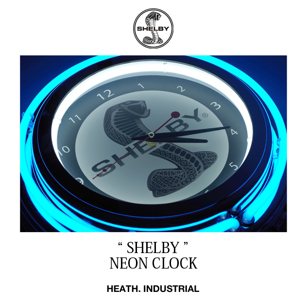 時計 壁掛け ネオンクロック インポート 日本未発売 SHELBY 直輸入 HEATH. ヒース BLUEPORT ブルーポート 横浜 大人 アメカジ