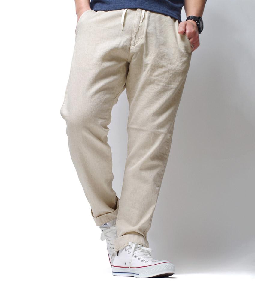 パンツ メンズ ブランド カジュアル トラウザー 綿麻 大人 快適 リラックス 通気性 きれい シルエット 長袖 40年代 50年代 アメカジ 横浜