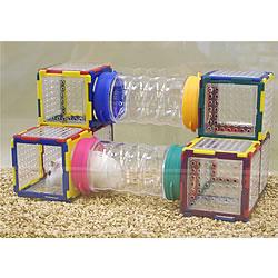 トイビルダー 6038/おもちゃ ブロック 組立て プレート 遊び場 トンネル お家 ハウス 小動物 ハムスター ジャンガリアン ゴールデン