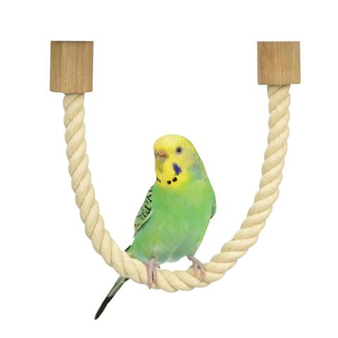 日曜日も14時まで出荷中 小鳥用コットンロープパーチ 文鳥 ラッピング無料 セキセイインコ ボタンインコ とまり木 蔵 三晃商会 SANKO サンコー ロープパーチ37