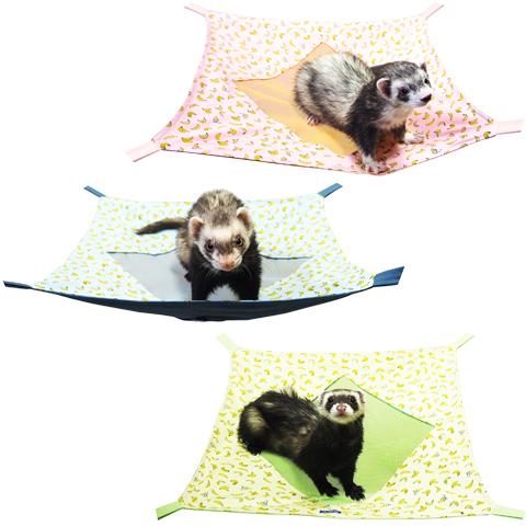 レインボー スクエアメッシュハンモック L バナナ/フェレット 寝床 ベッド 夏 涼しい 暑さ コットン Rainbow