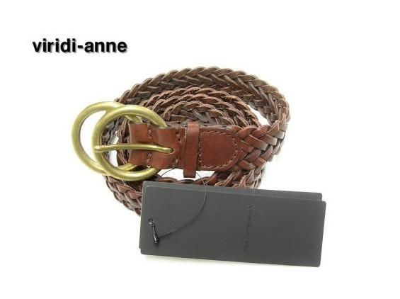 SALE セール 【The Viridi-anne ザ ヴィリディアン 編み込みレザーベルト】VI-2072-09【新品】