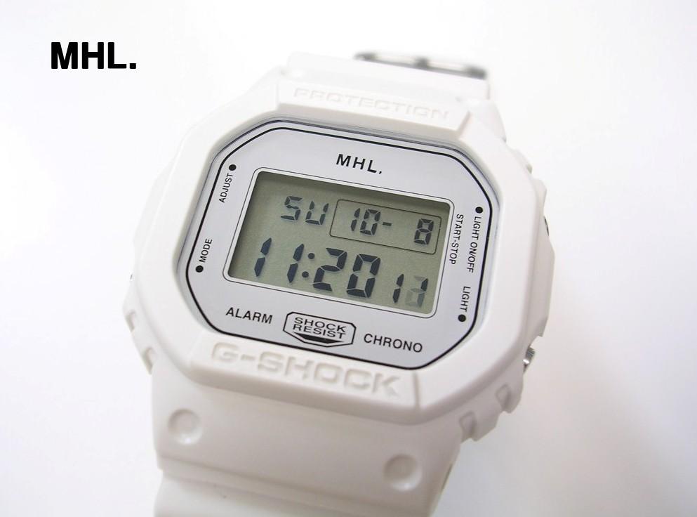 White 白【CASIO MHL. G-SHOCK カシオ MHL. Gショック DW-5600VT 腕時計】【中古】