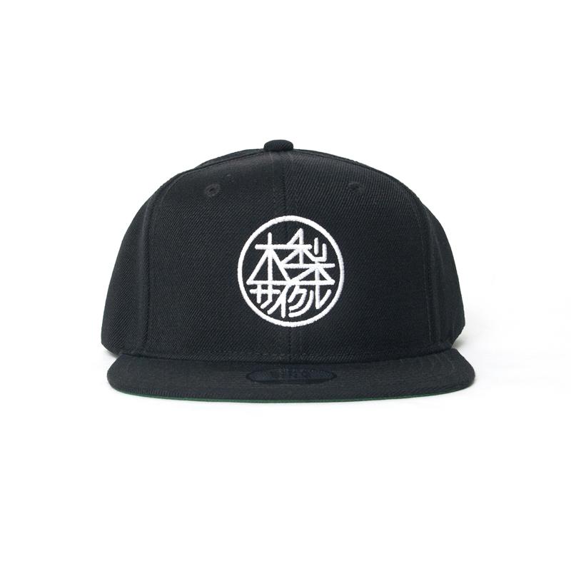 BLACK 【木梨サイクル キナシサイクル スナップバックキャップ(まる) KINASHI CYCLE 木梨憲武 帽子】