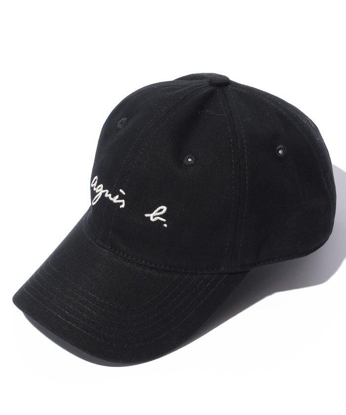 1番人気 UNI 黒 BLACK【agnes b. Logo Cap アニエスベー ロゴ キャップ 2572 GT47 E17 CASQUETTE】正規品 男女兼用 ユニセックス