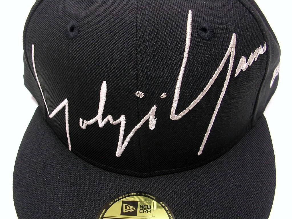 73/8(58.7cm)BLACK【ヨウジヤマモト Yohji Yamamoto x ニューエラ NEW ERA 59FIFTY Zoom Up Signature Logo キャップ 黒 ブラック】