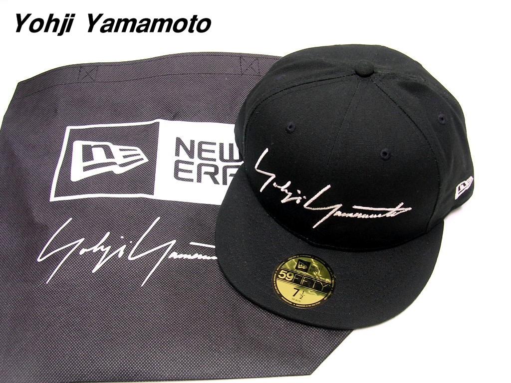 7 1/2(59.6cm)BLACK【Yohji Yamamoto x NEW ERA 19FW YY SIGN 59FIFTY CAP ヨウジヤマモト x ニューエラ キャップ 黒 ブラック 2019FW 新作】