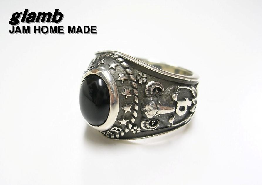 #19 【glamb グラム x JAM HOME MADE ジャムホームメイド シルバーカレッジリング】【新品】