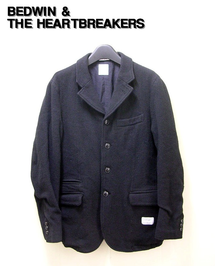 1 Black【BEDWIN & THE HEARTBREAKERS [ベドウィン&ザ・ハートブレーカーズ] 5B TWEED TATLOR JKT MILLING