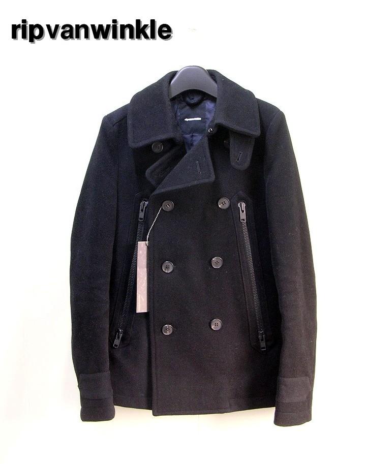 3 Black【ripvanwinkle [リップヴァンウインクル] P-Coat ヴィンテージメルトン(wataer proof) Pコート】RL-2713【中古】