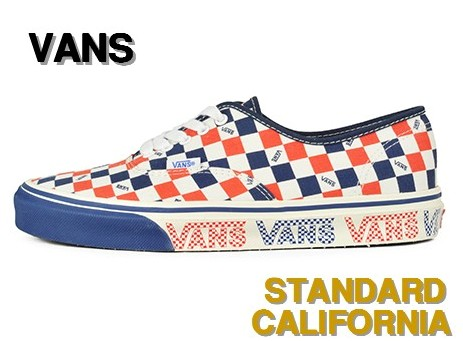 27cm Navy/White/Red【STANDARD CALIFORNIA [スタンダードカリフォルニア] x VANS Authentic】 V44R SD