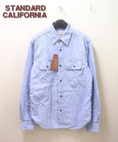 M 【STANDARD CALIFORNIA スタンダードカリフォルニア シャンブレーシャツ】【中古】