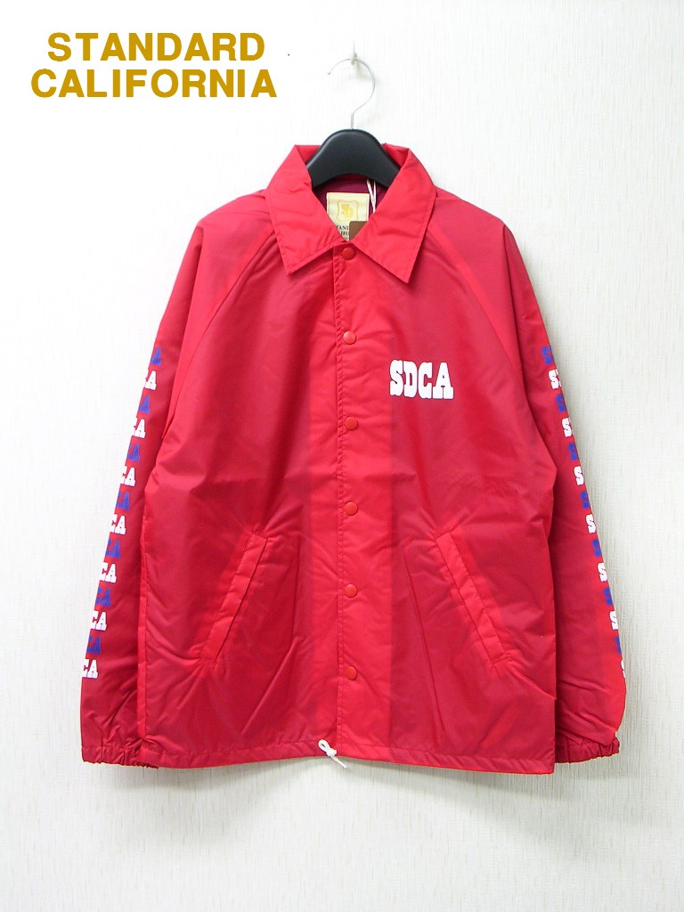 M 赤 RED【STANDARD CALIFORNIA SD COACH JACKET TYPE2スタンダードカリフォルニア コーチジャケット】限定