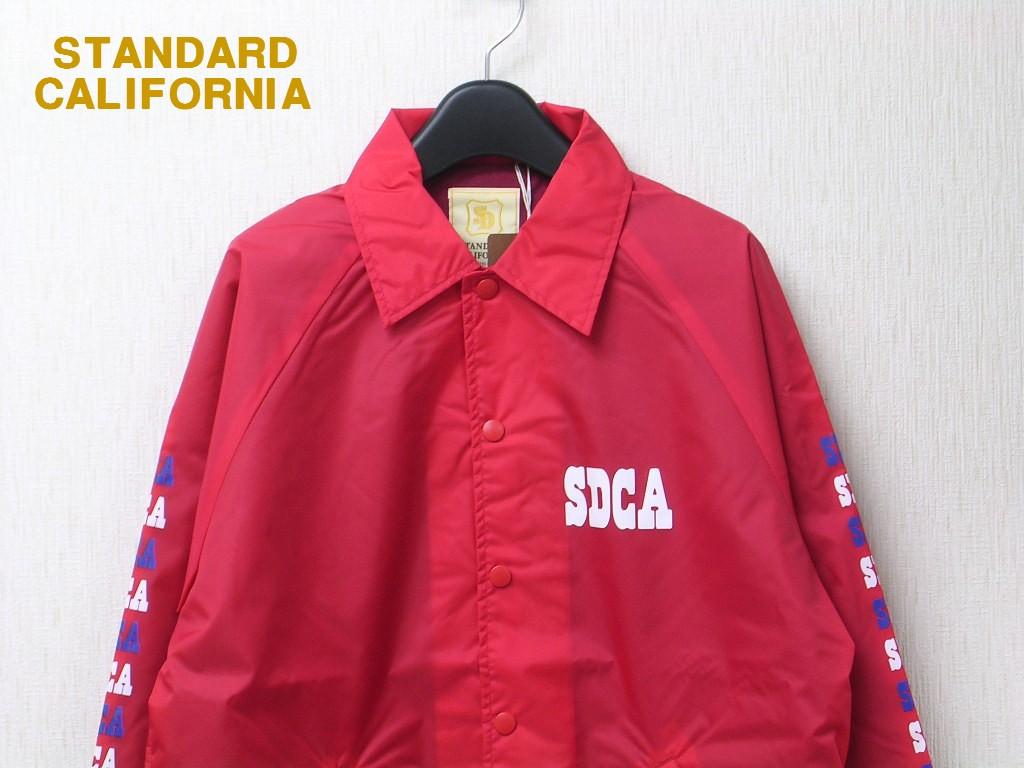 L 赤 RED【STANDARD CALIFORNIA SD COACH JACKET TYPE2スタンダードカリフォルニア コーチジャケット】限定