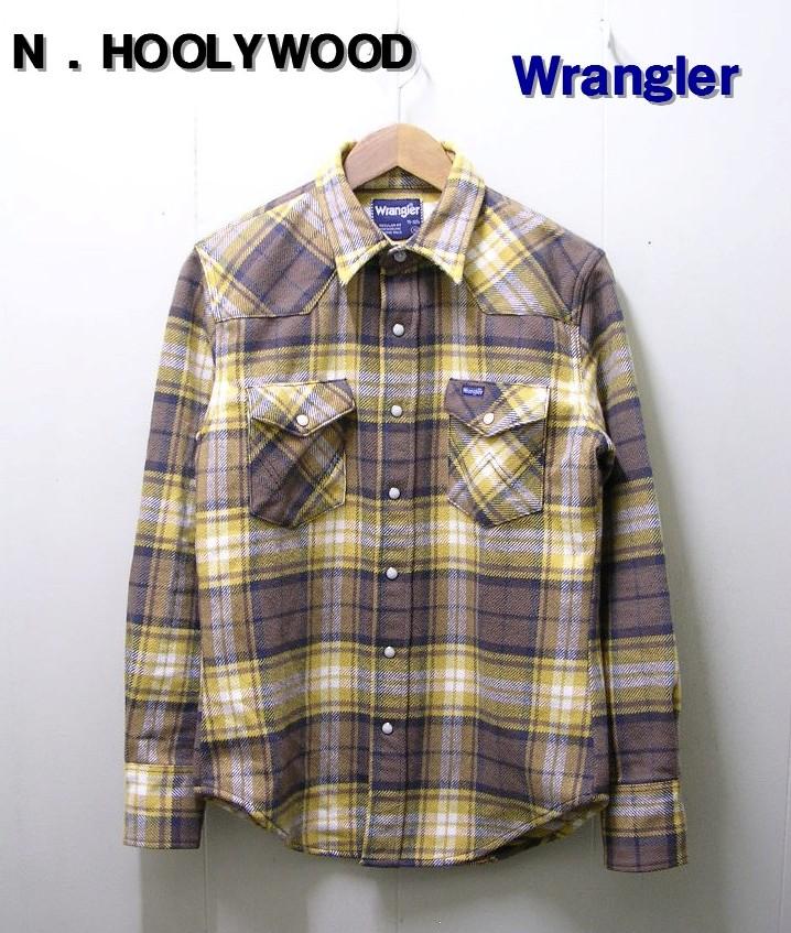 36(S) 【N.HOLLYWOOD [ミスターハリウッド] x Wrangler [ラングラー] ヘビーネルチェックシャツ】【中古】