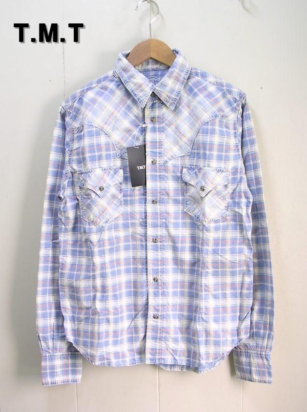 10SS【TMT ティーエムティー 長袖インディゴチェックシャツ】TSH-S1003【サンプル】