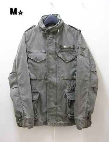 S 【M☆エム pigment dye M-65 JACKET M65ジャケット】