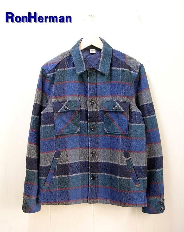 適切な価格 M 【Ron Herman [ロンハーマン] CPO チェックシャツジャケット】222040061-1071【】, 家具インテリアのジェンコ 9da3f793
