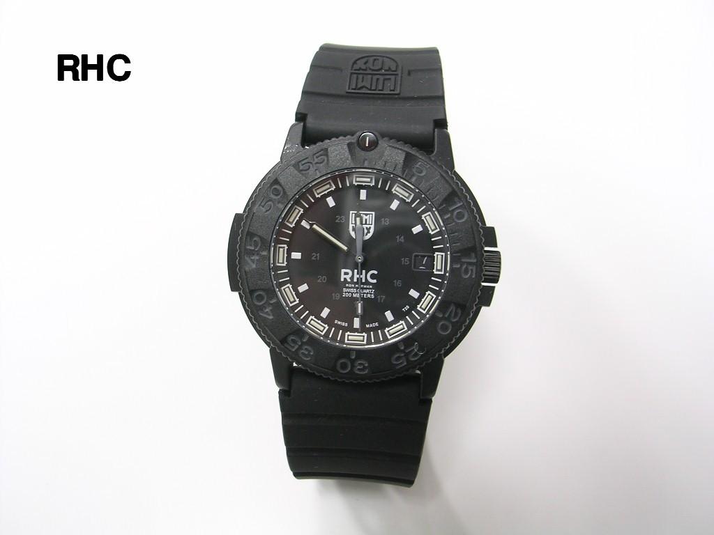 BLACK【Ron Herman ロンハーマン RHC x LUMINOX ルミノックス ウォッチ NAVY SEALS 3001 BO WATCH 腕時計 300個限定】【美中古】