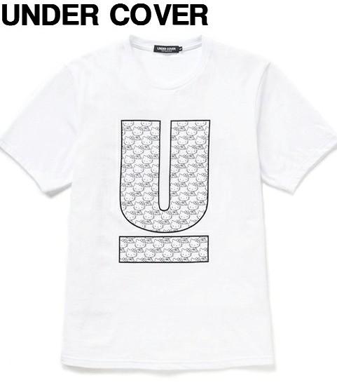 S 白 WHITE【UNDERCOVER アンダーカバー Hello Kitty ハローキティー UロゴTシャツ】