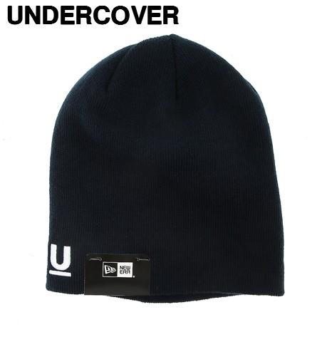 E.BLACK【UNDERCOVER x NEW ERA U LOGO KNIT CAP ニューエラ x アンダーカバー Uロゴ ニットキャップ ビーニー アクリル】