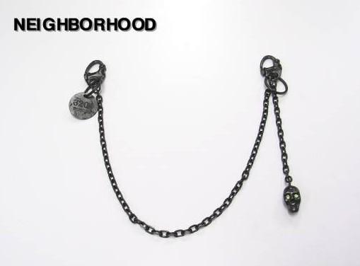黒/緑 【NEIGHBORHOOD ネイバーフッド SKULL WALET CHAIN スカルウォレットチェーン】【新品】