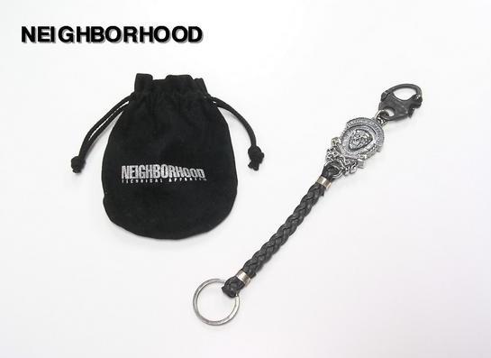 【NEIGHBORHOOD [ネイバーフッド] x FRAGMENT [フラグメント] LEATHER KEY CHAIN レザーキーチェーン】【新品】