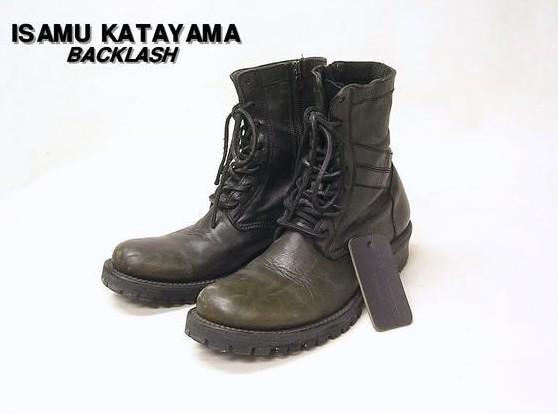 26 【BACKLASH ISAMU KATATAMA [バックラッシュ イサム カタヤマ] コンバットブーツ レザーブーツ】L507-01【中古】