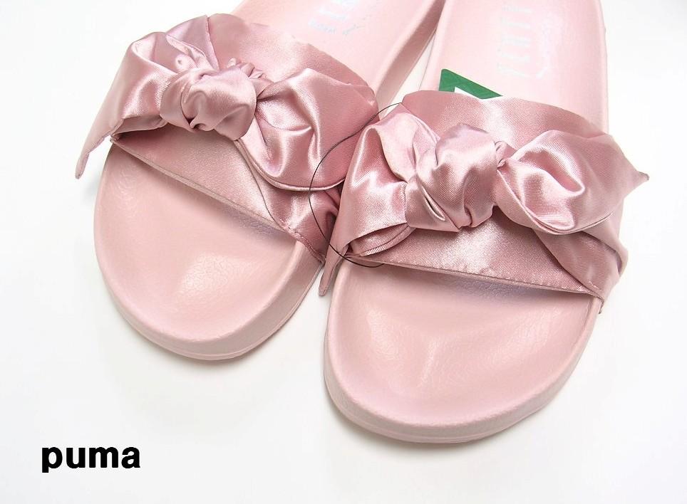 24cm Pink ピンク【PUMA by Rihanna FENTY BOW SLIDE WNS プーマ リアーナ フェンティ ボウ スライド サンダル 2017】36577403