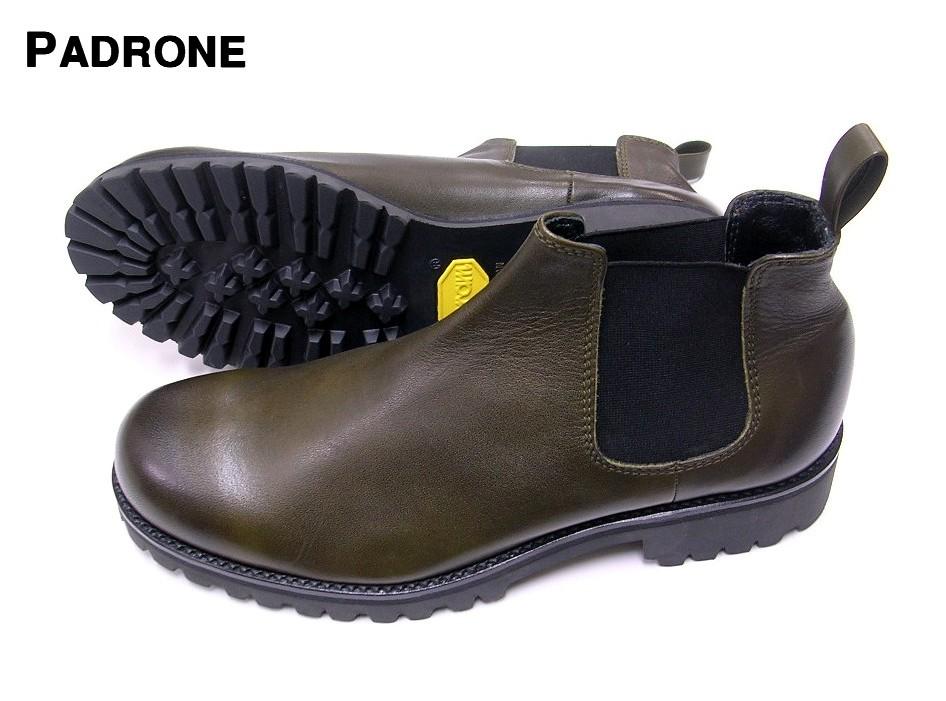 41 (26cm) KHAKI【PADRONE SIDEGORE BOOTS パドローネ サイドゴア ブーツ シューズ PU8054-1130-16C KHA】