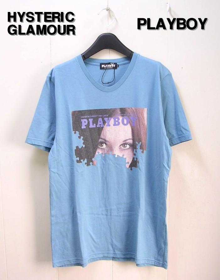 L 【HYSTERIC GLAMOUR ヒステリックグラマー PLAYBOY プレイボーイ Tシャツ】1241CT09