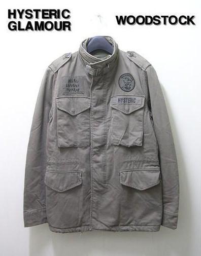 S 【HYSTERIC GLAMOUR x THEATER8 ウッドストックM65ジャケット】0293AB11【中古】