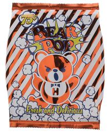 RED【HYSTERIC GLAMOUR BEAR POPCORN ヒステリックグラマー ベア ポップコーン クラッチバッグ バック】【中古】