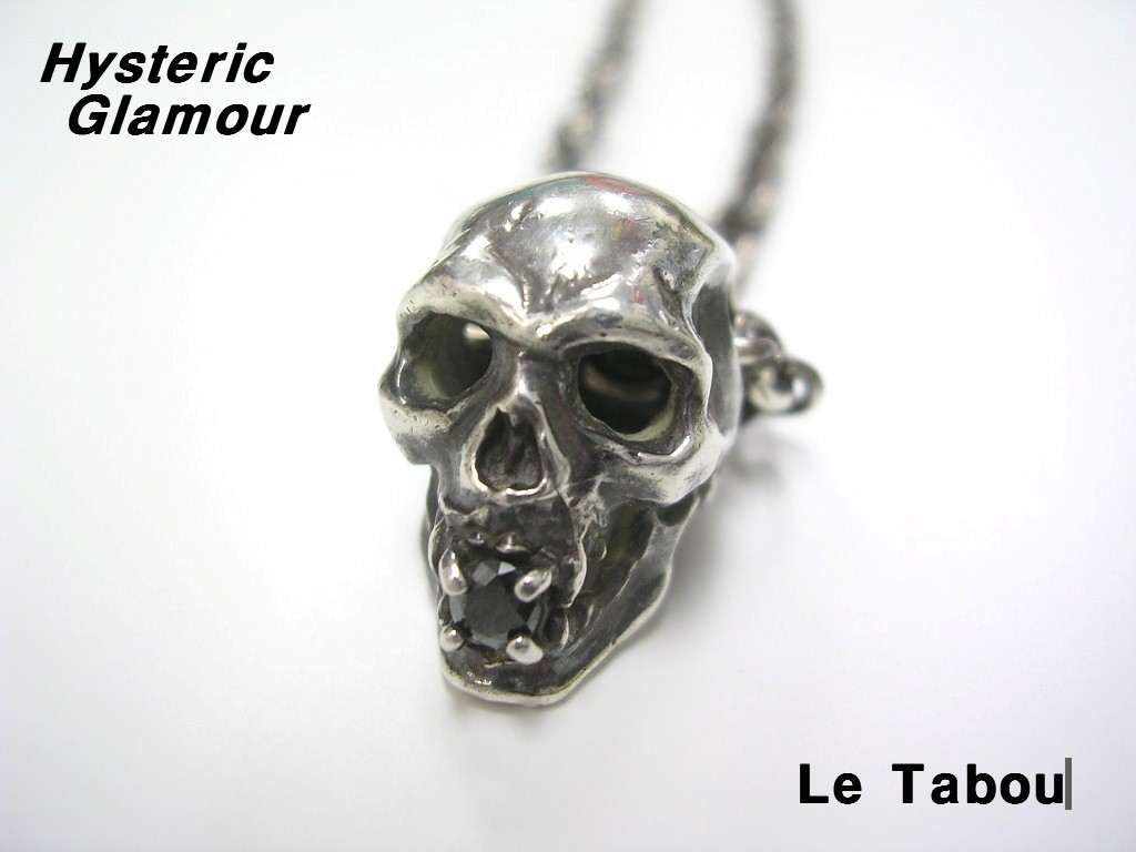 SILVER【HYSTERIC x Le Tabou ヒステリック x ル タブー SKULL スカルネックレス HYSTERIC GLAMOUR ヒステリックグラマー シルバー Silver925】【中古】