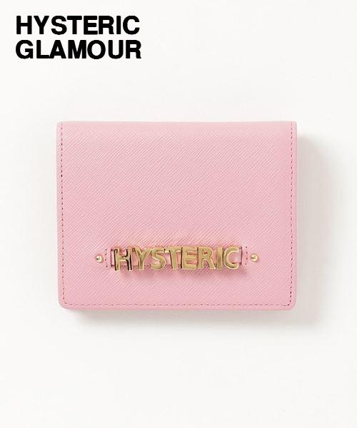 PINK【HYSTERIC GLAMOUR LOGO MINI ウォレット NO. 01182QG03930 ヒステリックグラマー ロゴ ミニ ウォレット 財布 レザー ピンク】