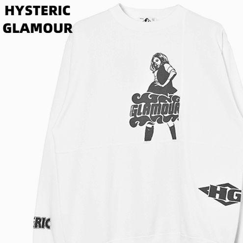 M【HYSTERIC GLAMOUR VIXEN SCRATCH スウェット No. 02193CS01300 DIRTY WHITE ヒステリックグラマー スウェット トレーナー】