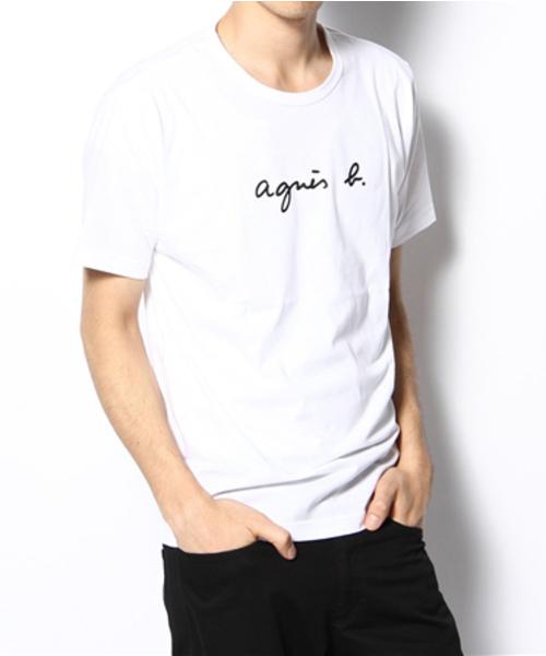 人気 3 白 White【agnes b. HOMME LOGO TEE アニエスベー オム ロゴTシャツ S137 TS 日本国内正規品】