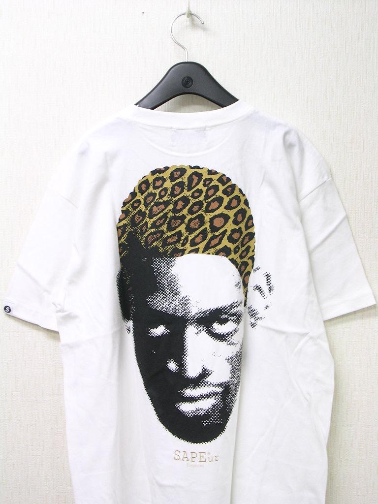 人気 XL 白 WH【SAPEur DOTmanColorHeads サプール ドットマン カラーヘッド Tシャツ LEOPARDhead レオパードカモヘッド ロッドマン Tシャツ】