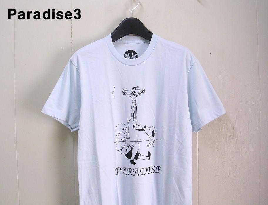 S Blue【Paradis3 Charlie Brown Paradise Tシャツ パラダイス チャーリーブラウン SNOOPY スヌーピー】