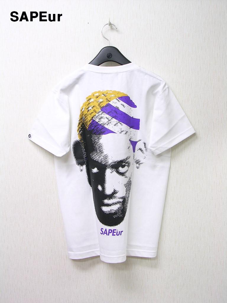 M 白 WH【SAPEur DOTmanColorHeads S/S Tshirt サプール ドットマン カラーヘッド Tシャツ GOtoLA ロサンゼルス ロッドマン Tシャツ】
